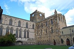Hexham Abbey outside 3