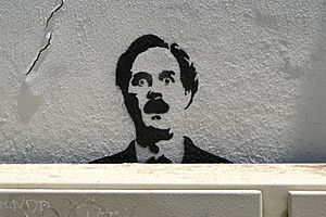 John Cleese-Fawlty Towers Graffito - Alfama District - Lisbon, Portugal (4632932885)