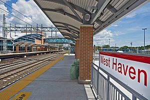 West Haven, CT, train station MTA photo