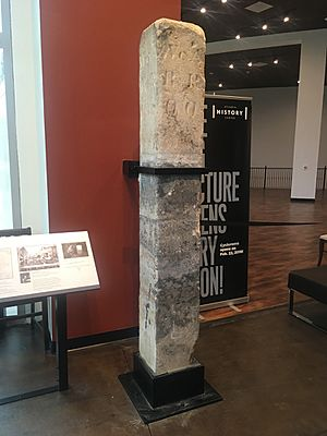 Atlanta Zero Mile Post in Atlanta History Center