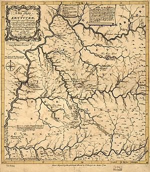 Map of Kentucke (1784) color