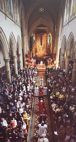 St Peter's Cathedral during a special service