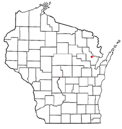 Location of Spruce, Wisconsin