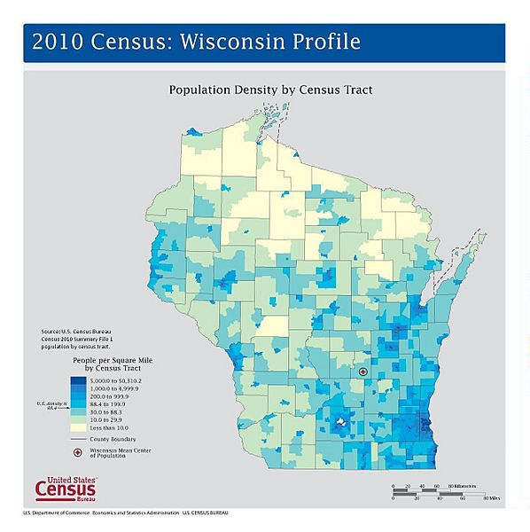 Wisconsin Population map