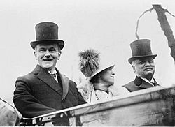 Calvin Coolidge, Mrs. Coolidge and Senator Curtis