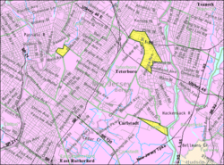 Census Bureau map of South Hackensack, New Jersey