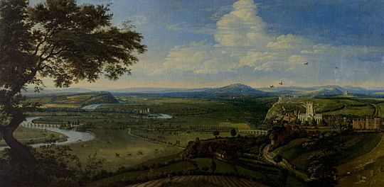 Jan Siberechts - View of Nottingham from the East