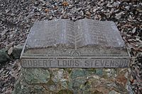 Monument on the site of Robert Louis Stevenson's cabin in Robert Louis Stevenson State Park