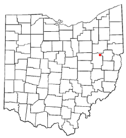 Location of Mineral City, Ohio