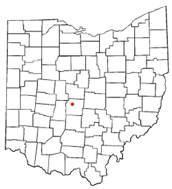 Location of Upper Arlington within Ohio