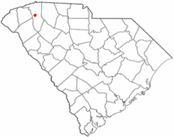 Location of Sans Souci, South Carolina