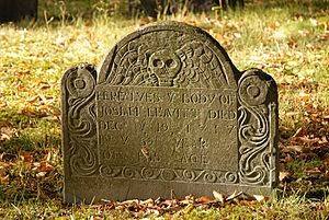 008-Josiah Leavitt (d. Dec 19th, 1717) grave, Hingham Center Cemetery, Hingham, Plymouth Co., MA