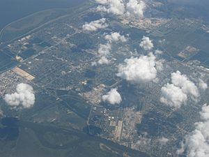 Aerial view of Port Arthur, Texas
