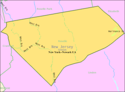 Census Bureau map of Roselle, New Jersey