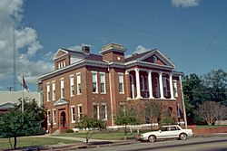 The Jefferson Davis County Courthouse is one of four sites in Prentiss listed on the National Register of Historic Places