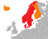 Map of Scandinavia