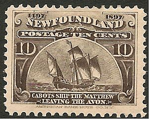 Newfoundland Cabots ship 1897 issue-10d