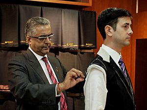 Raja Daswani Fitting