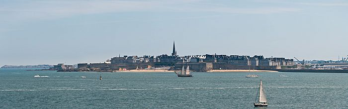 Saint Malo from Dinard, France - July 2011