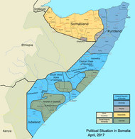 Somalia map states regions districts