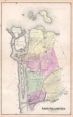 1873 Beers Map of Astoria and Long Island City, Queens, New York - Geographicus - LongIslandCity-beers-1873