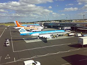 Aircraft at Newcastle Airport