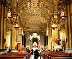 Interior Cathedral Basilica of Saints Peter and Paul crop