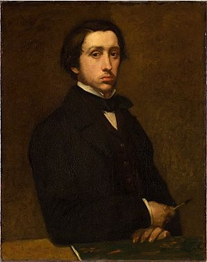 Edgar Degas self portrait 1855