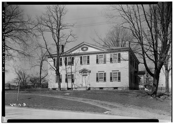 General Samuel Strong House, North side of West Main Street, Vergennes, Addison County, VT HABS VT,1-VERG,1-2.tif