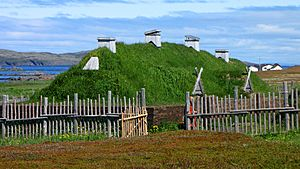 L'Anse aux Meadows, recreated long house