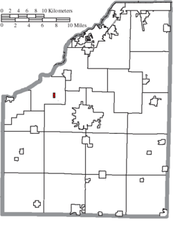 Location of Tontogany in Wood County