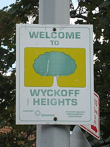 Sign Wyckoff Heights neighborhood association