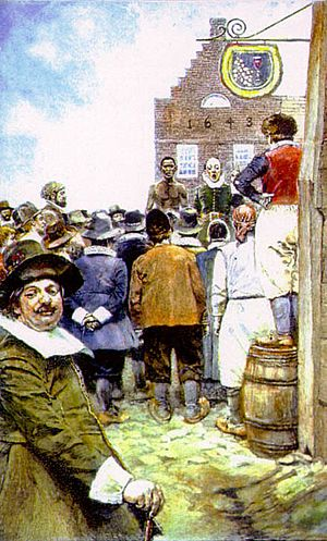 The first slave auction at new amsterdam in 1655