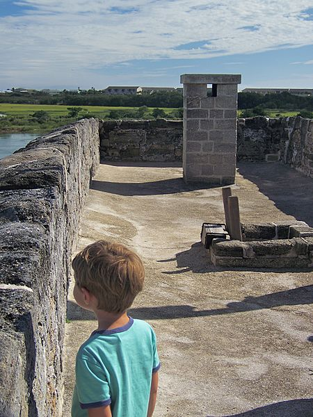 View of the roof of Fort Matanzas