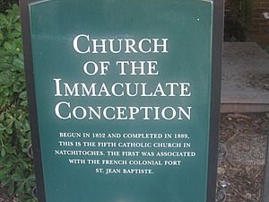 Church of the Immaculate Conception sign in Natchitoches IMG 1967