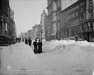 Fifth Avenue after a snow storm