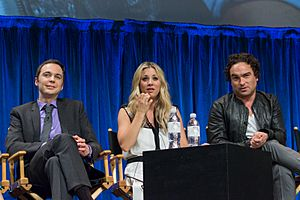 Jim Parsons, Kaley Cuoco and Johnny Galecki at PaleyFest 2013