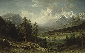 Albert Bierstadt, Estes Park and Longs Peak, circa 1876