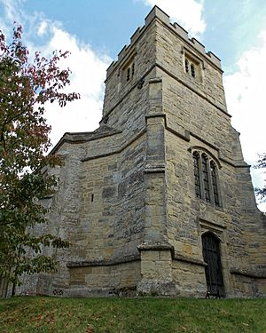 All Saints Church, Middle Claydon, Bucks, England - tower from NW