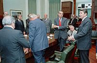 Libya Bombing Reagan Meeting 14 March 1986