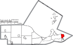 Location of Marblehead in Ottawa County