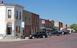 Troy business district with brick street (2006)