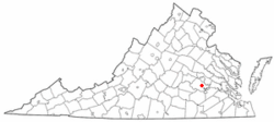 Location of Chesterfield Court House, Virginia