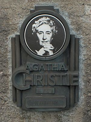 Agatha Christie plaque -Torre Abbey