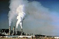 Air pollution by industrial chimneys