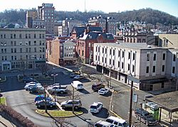 The Clarksburg Downtown Historic District is listed on the National Register of Historic Places