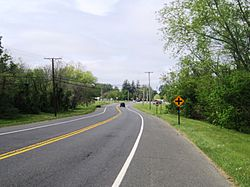 Center of Cream Ridge at CR 539 and Burlington Path Road