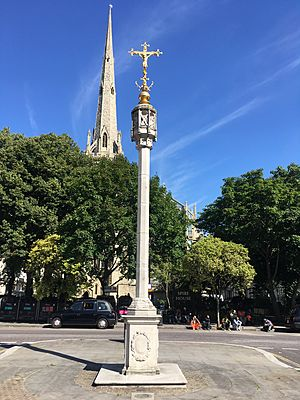 Lancaster Gate Memorial Cross in August 2017