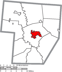 Location of Washington Court House in Fayette County