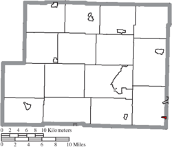 Location of Harrisville in Harrison County